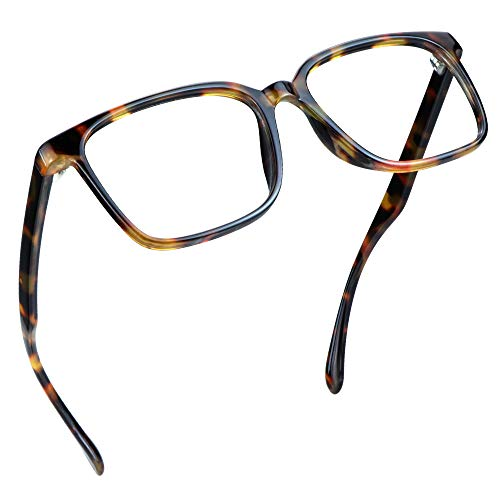 LifeArt Blue Light Blocking Glasses, Computer Reading Glasses, Gaming Glasses, TV Glasses for Women Men, Anti Glare (Amber, 3.50 Magnification)