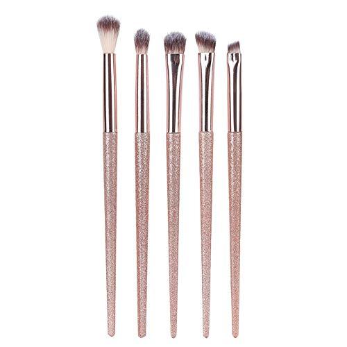 Set de pinceaux de maquillage JJ. Accessoire 5 Pcs Pinceaux De Maquillage Pour Les Yeux Ensemble Fibre Synthétique Fard À Paupières Sourcil Mignon Maquillage Outil Kit