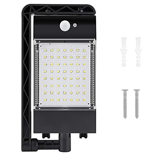 Buitenlamp op zonne-energie, slimme waterdichte wandlamp, detectieafstand van 5 meter 120 °; Groothoek draadloze inductielamp voor menselijk lichaam Nachtverlichting (zwart), M