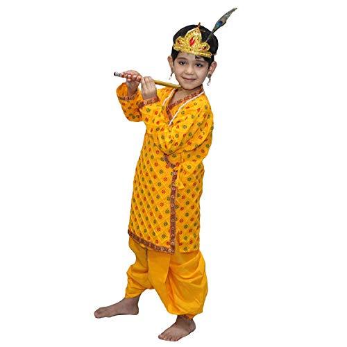 Kaku Fancy Dresses Krishna Costume for Kids | Kids Krishna Dress for Janmashtami/Kanha/Krishnaleela/Mythological Character Krishna Fancy Dress... 2