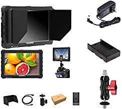 LILLIPUT 7 inch A7S Black 1920x1200 IPS On Camera Monitor with 4K HDMI Input Output Field Monitor for DSLR and Mirrorless Cameras with Free Gifts:Mini Magic Arm Mount + LP-E6 Plate+ 12V AC Adapter