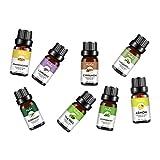 Hellery Aceites Esenciales de aromaterapia para humidificador Set de Regalo de 8 aceites Naturales-árbol de té Lavanda Incienso de eucalipto Romero