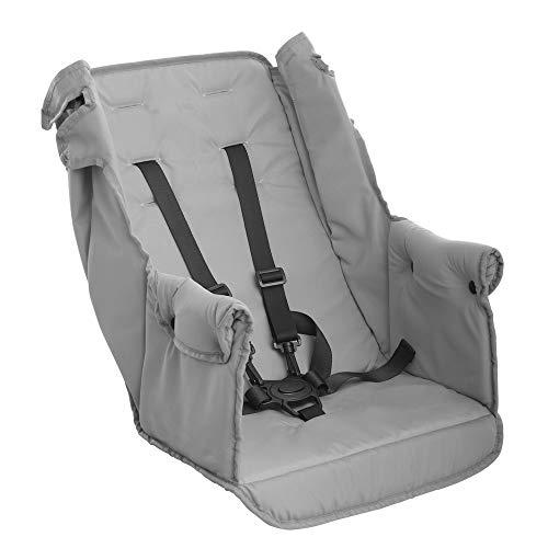Joovy Caboose Doppelter Kinderwagen Rücksitz, Zubehör, faltbar mit dem Kinderwagen, muss nicht entfernt werden, grau