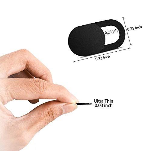 Webcam Abdeckung Laptop, Webcam Cover 0.027 Ultra dünne passt Echo Spot Smartphones Tablets Macbooks Computer(6 Packs)