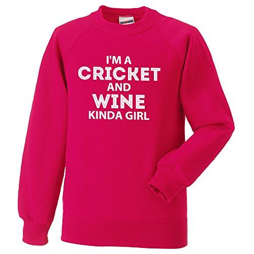 PunkCricket I 'm a de críquet y Vino Kinda Girl Sudadera (XS, Rosa)