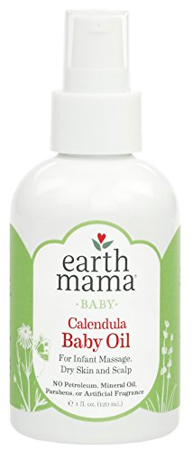 Image of the Earth Mama Calendula Baby Oil for Infant Massage, 4-Fluid Ounce