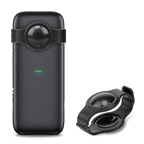 Fisheye - Copriobiettivo per fotocamera, accessori per fotocamera, set di protezione per Insta360 One X, design con fibbia (nero)