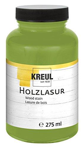 Kreul 78211 - Farbintensive Acryl Holzlasur, 275 ml Kunststoffglas in pistazie, für unbehandeltes, natürliches Holz und saugende Naturpapiere, fließend - flüssige Farbe auf Wasserbasis