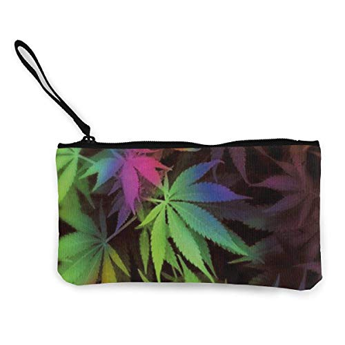 XCNGG Women's Wristlet Wallet Clutch for Smartphones with Wrist Strap Card Coin Purse Case - Tie Dye Pot Leaf Weeds