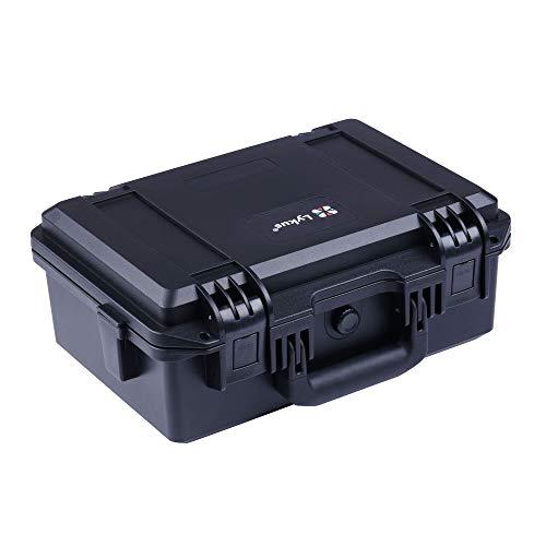 Lykus HC-3310 Wasserdicht Koffer mit anpassbar Rasterschaumstoff, Innengröße 33x21x13.5 cm, geeignet für Pistole, DSLR Kamera, kleine Drohne, Camcorder, Actionkamera und mehr