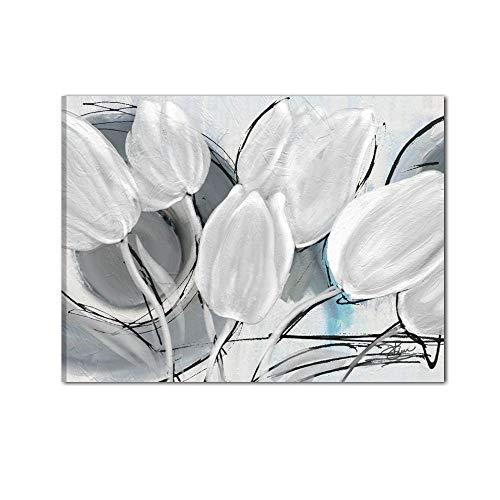 De kleuren van de Caribe schilderij A Mano Moderne bloemen Pronto om op te hangen salone kantoor bank - Melantha