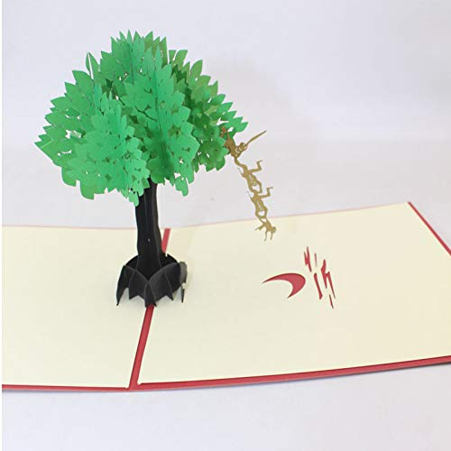 HUDETIE 3D Handgemaakte Chinese Fairy Tales Apen Pak voor De Maan Papier Zegen Wenskaart Postkaart Student Gift