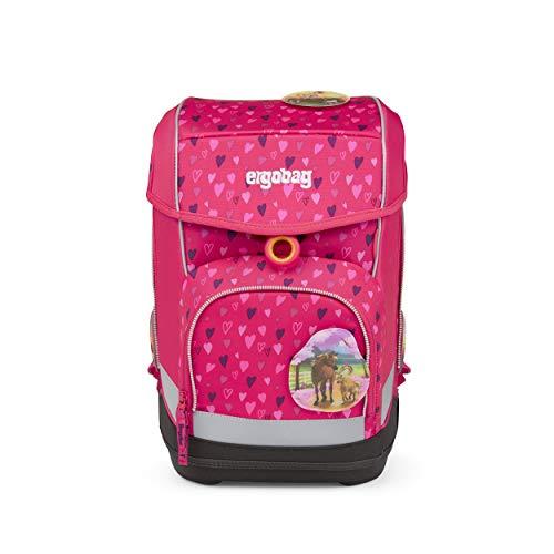 Preisvergleich Produktbild ergobag cubo Set - ergonomischer Schulrucksack,  Set 5-teilig - HufBäreisen - Pink