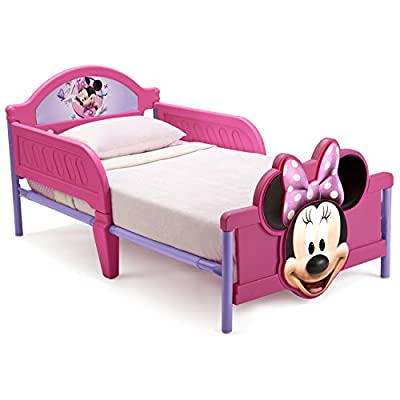 Delta Children 3D-Footboard Toddler Bed, Disney Minnie Mouse