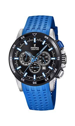 Festina Herren Chronograph Quarz Smart Watch Armbanduhr mit Silikon Armband F20353/7