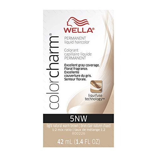 WELLA Color Charm Liquid Haircolor 5NW Dark Natural Warm Blonde, 1.4 Fl oz