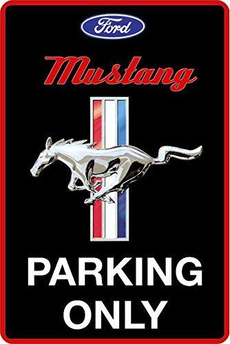 Blechwaren Fabrik Braunschweig GmbH Mustang Parking only Blechschild 20 x 30 cm PC 300/476