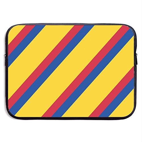 Computer Sleeve Kleurrijke Colombiaanse vlag- 15 inch Laptop Case Bag, Schokbestendige Laptop Aktetas Draagtas Compatibel voor Notebook/Ultrabook, Mode Laptops Case Cover voor Vrouwen
