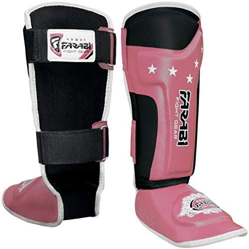 Farabi Shin Pads Instep Guards Kinder Junior-Schutz-Kick Boxing Muay Thai Training Paar Normale Größe