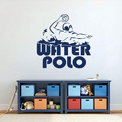 Deportes acuáticos pegatinas de pared de vinilo deportes de natación waterpolo 3D pegatinas de pared de vinilo creativo calcomanía mural decoración de arte