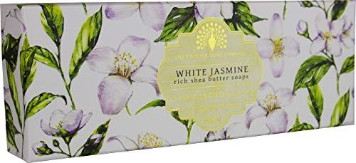 The English Soap Company, Gift Boxed Hand Soaps, White Jasmine & Sandalwood, 3 x 100g