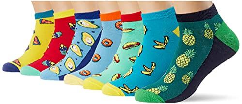 Jack & Jones Jacsummer Thing Short Sock 7 Pack Chaussettes, Maize/détail : Bittersweet-Bonnie Blue-Jada Cream-Baltic Sea-Andean Toucan-Peacook Blue, Taille Unique Homme