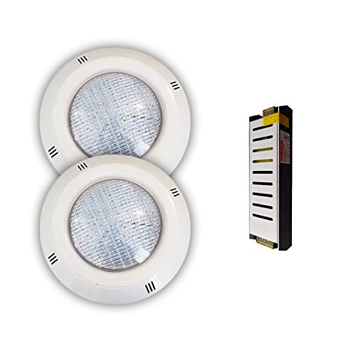 Pack Focos LED 18W RGBV+ Cable 4 Hilos Configurable + Transformador (2...