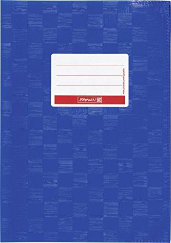 Brunnen 104052536 Hefthülle / Heftumschlag (A5, Folie, mit Namensschild) blau