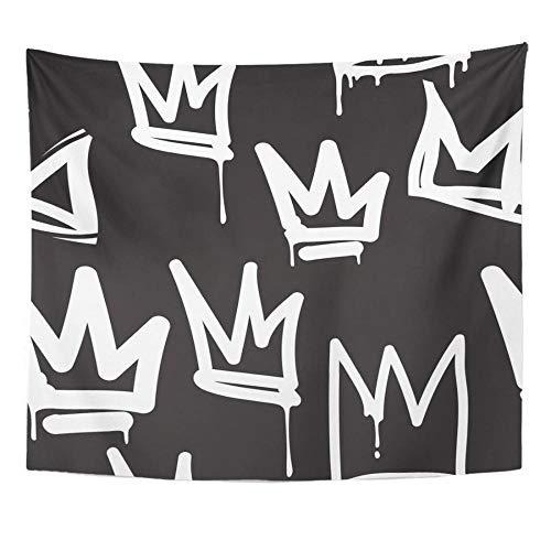 Graffiti En Blanco Y Negro En La Calle Hip Hop Decoración del Hogar Tapiz Colgante De Pared para Sala De Estar Dormitorio