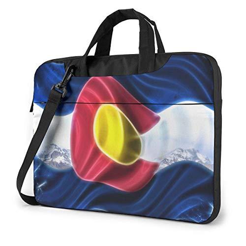 15.6 inch Laptop Shoulder Briefcase Messenger Abstract Colorado Flag Tablet Bussiness Carrying Handbag Case Sleeve