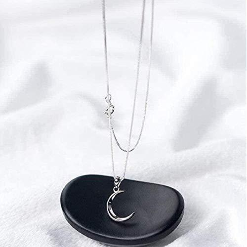 MGBDXG Co.,Ltd Collar Dulce Luna Joyas Temperamento En Forma de Media Luna Cadena de clavícula Colgante Collar Collar