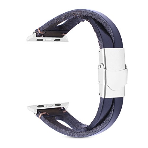 Watch Strap for 38mm Armband Schwarz,iWatch Series 3 Ersatz Leder bands,Frauen bänder für iWatch 38mm Serie1/Serie2/serie3/Edition/Nike+