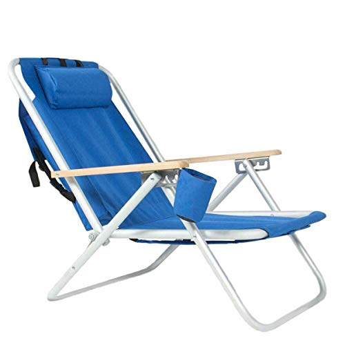 Folding Chaise Lounge Chair Reclining Adjustable Pool Chair Outdoor Patio Beach Camping Recliner Sun Chair by SHG