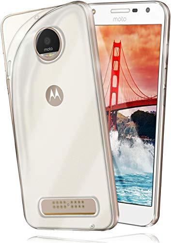 moex Aero Hülle kompatibel mit Moto Z Play - Hülle aus Silikon, komplett transparent, Klarsicht Handy Schutzhülle Ultra dünn, Handyhülle durchsichtig einfarbig, Klar