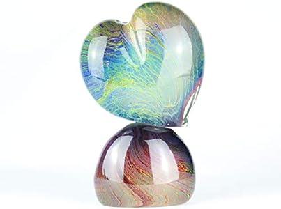 Cristal de Murano Corazón Escultura en Calcedonia por tagliapietra