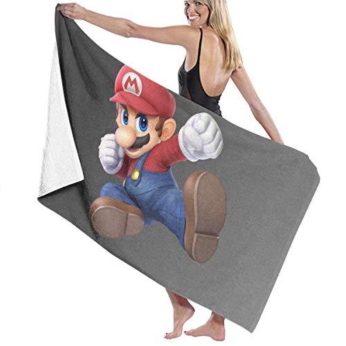 DJNGN Ma-r-i-o Super Smash Bros Ultimate Toalla de baño Cool Super Soft Lujoso Completo Cocina y el baño Viajes en casa Hotel Uso Diario