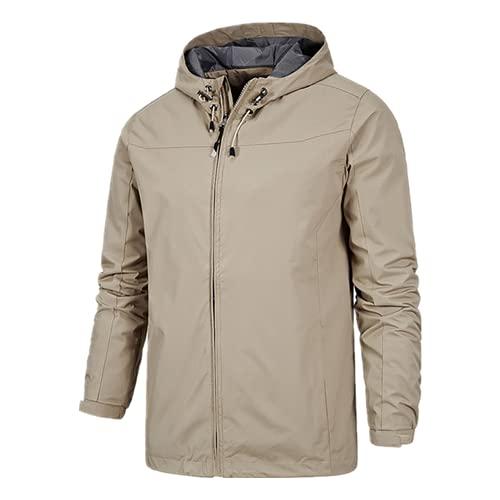 Chaqueta de senderismo con capucha impresión impermeable de secado rápido hombres de camping