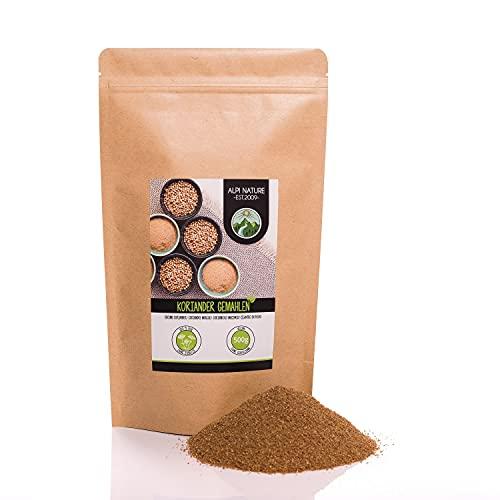 Cilantro molido (500g), polvo de cilantro, semillas de cilantro molidas, especia 100% natural, semillas de cilantro en polvo, sin aditivos, coriandolo, coriander