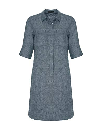 OPUS Damen Willmar Linen Kleid, Forever Blue, 38