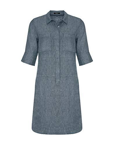OPUS Damen Willmar Linen Kleid, Forever Blue, 40