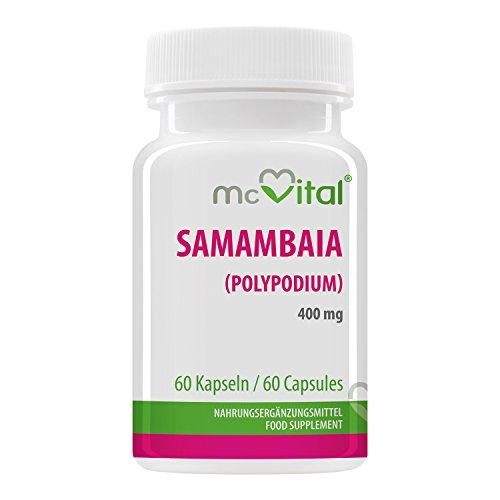 Samambaia Polypodium - 400 mg - Schutz vor UV bedingter Hautalterung - 60 Kapseln