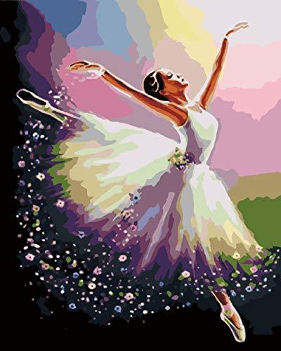 DIY Digitale Schilderen door Nummers Kits Ballerina Nieuwe Verf door Nummers op Canvas Gift voor Volwassenen en Kinderen Verjaardag Bruiloft Kerstdecoratie Decoraties