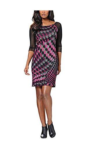 Heine Damen-Kleid Druckkleid Mehrfarbig Größe 42