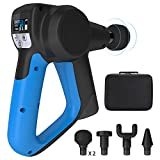 Massage Gun, Volkcam Cordless Deep Tissue Massager 15 Speed Setting (3000 RPM) for Rehabilitation and Relaxation Muscles of Arm/Leg/Butt/Chest/Back with Li Battery (6000mh) and 5 Massage Heads