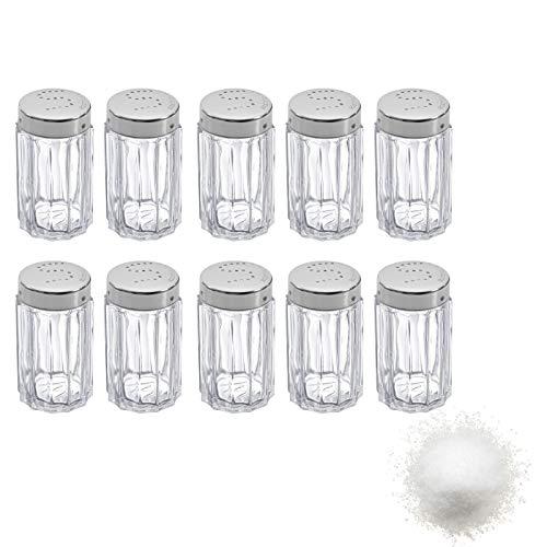 Westmark Salzstreuer, 10 Stück, Fassungsvermögen: je 50 ml, Rostfreier Edelstahl/Glas, Traditionell, Silber/Transparent, 630122E2