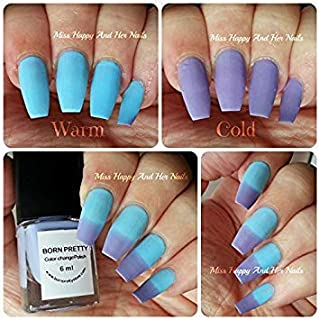 Included Component 1 pc Blue Purple Temperature Change Color Nail Polish Thermal Changing Polish Multicolor Nail Polish Varnish