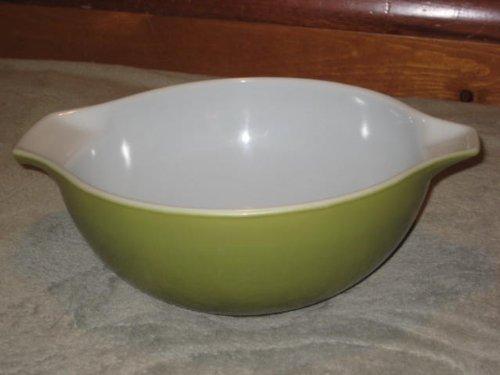 Vintage 1960's Pyrex ' Verde ' Olive Green 2 1/2 Quart Cinderella Mixing Batter Nesting Bowl