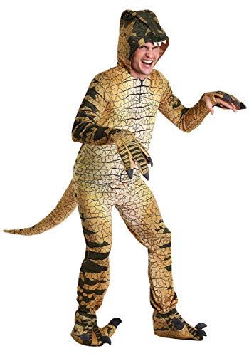 Adults Velociraptor Costume Large Green