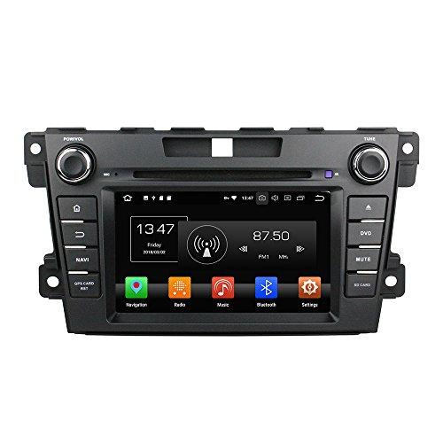 Android 9.0 Octa Core Autoradio Radio DVD GPS Navigation Multimedia-Player Auto Stereo für Mazda CX-7 2012 2013 unterstützt Lenkradsteuerungs mit 3G WiFi Bluetooth frei 8G SD-Karte (Zollfrei)