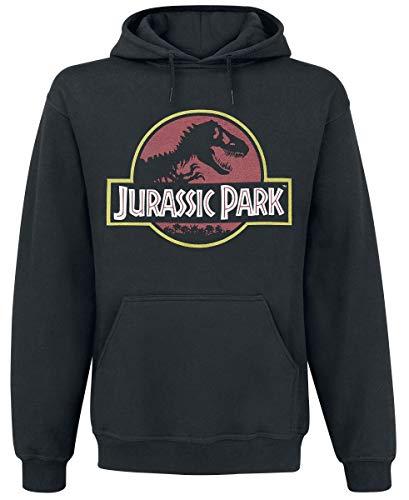 Jurassic Park MEJUPAMSW006 Sudadera con Capucha, Noir, M para Hombre